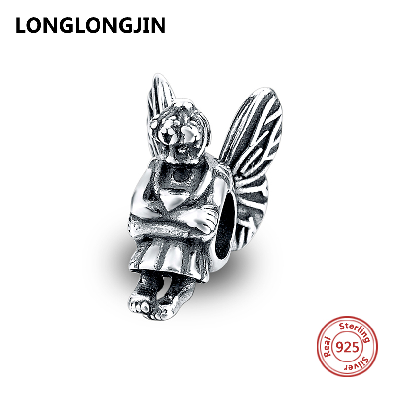Fit original Pandora charms 2017 Authentic beads sterling Silver 925 little girl angel Beads for jewelry making gifts
