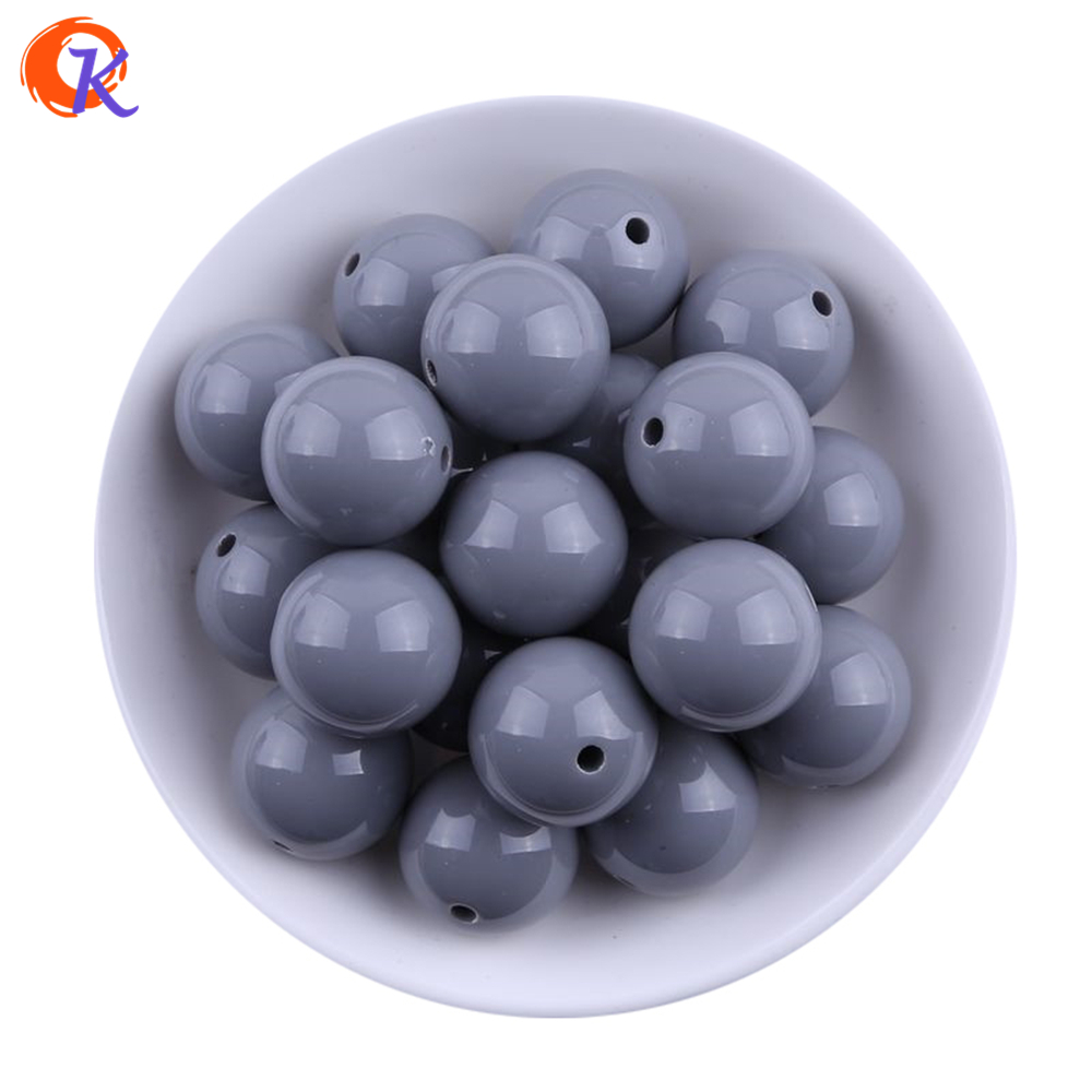 S4 Cordial Design 20MM 100pcs Handmade Jewelry Grey Chunky Solid Beads Colorful Chunky Beads For Jewelry Kit Making CDWB-517262